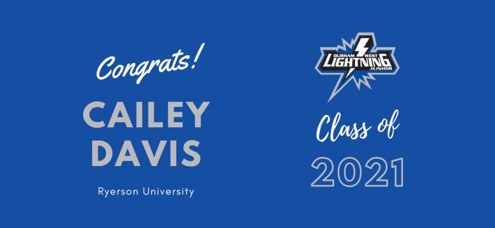 Graduating Senior #17 Cailey Davis