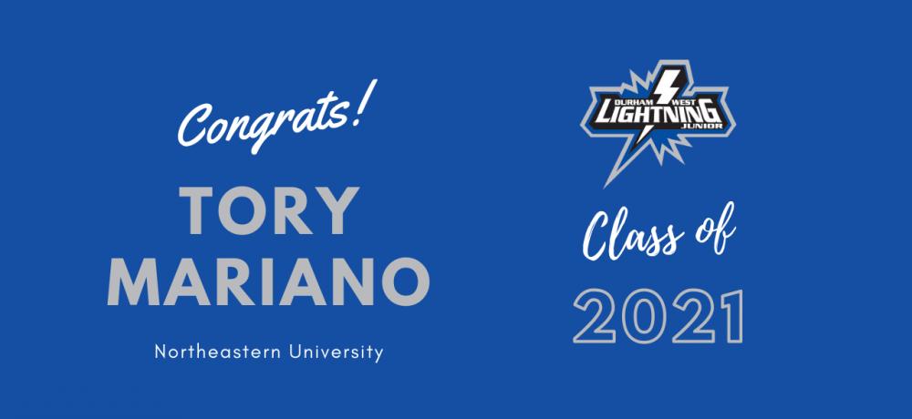 Graduating Senior #4 Tory Mariano